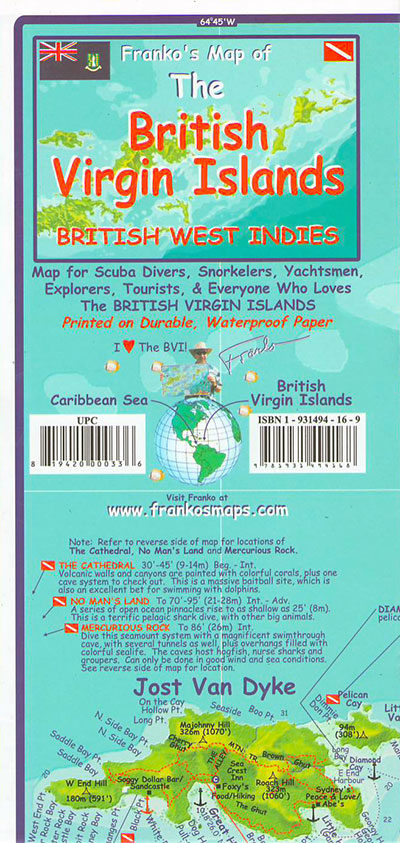British Virgin Islands Map (Franko)