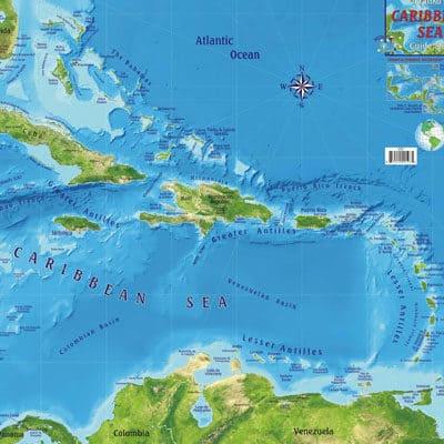 Caribbean Map Inside