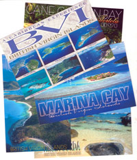 Set of 10 British Virgin Islands (BVI) Postcards
