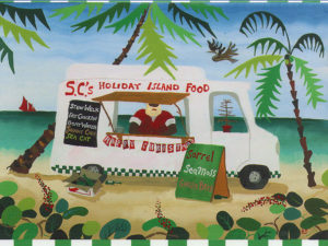 Santa Claus' Food Van Holiday Card