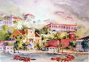 Christmas in Charlotte Amalie St. Thomas Card