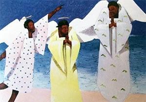 Caribbean Angel Christmas Card