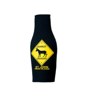 St. John Donkey Crossing Bottle Koozie