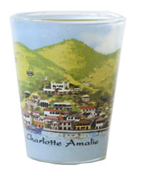 St. Thomas' Charlotte Amalie Shot Glass