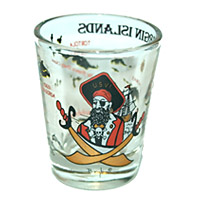 Virgin Islands Pirate Map Shot Glass