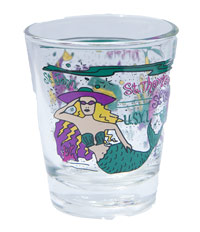 Mermaid Virgin Islands Shot Glass
