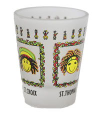 Virgin Islands Rasta Shot Glass