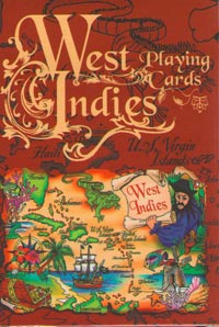 West Indies Scroll Map Playing Cards