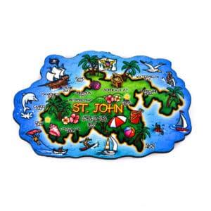 St. John Island Map Magnet