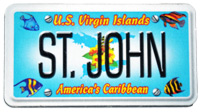 St. John License Plate Magnet