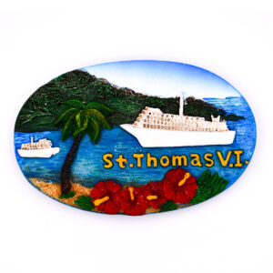 St. Thomas Harbor Ship Magnet