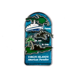 U.S. Virgin Islands Map Magnet (Stain Glass)