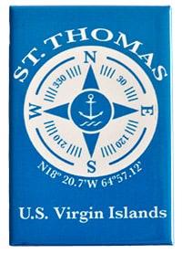 St. Thomas Compass Magnet