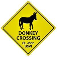 Donkey Crossing St. John Magnet