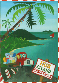 Irie Island Christmas Holiday Card