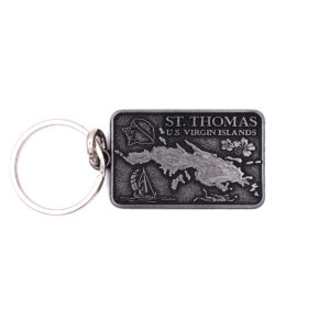 St. Thomas Map Key chain