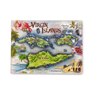 USVI Antique Map Magnet
