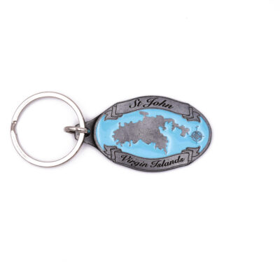St. John Map Key chain
