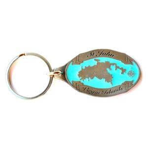 St. John Map Keychain