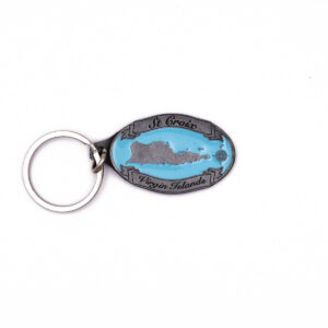 St. Croix Map Key chain