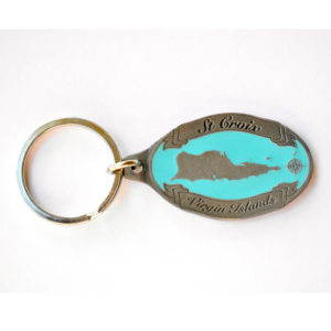 St. Croix Map Keychain