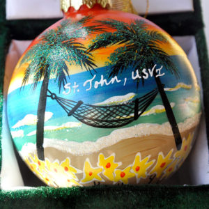 St. John Golden Sunset Ornament