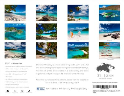 2020 St. John Calendar by Christian Wheatley Back Cover
