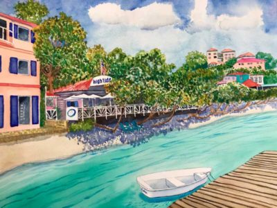 St. John Calendar - High Tide July