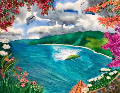 St. John Calendar - Peter Bay Overlook September