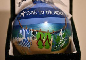 Gone Beach St. John Christmas Ornament