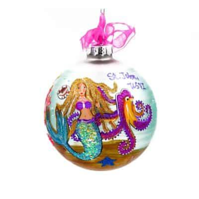 St. John Mermaid Under the Sea Christmas Ornament