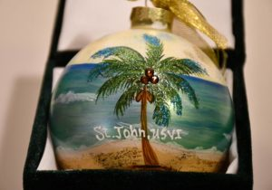 Coconut Palm St. John Christmas Ornament