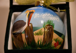 St. John Pelican Christmas Ornament