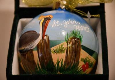 Pelican St. John Christmas Ornament