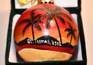 Tropical Sunset St. Thomas Ornament