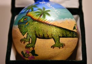 Iguana Beach St. Thomas Ornament