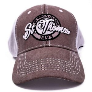 St. Thomas Mesh Hat (White/Grey-Brown)