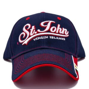 St. John Navy (w Red Trim) Hat
