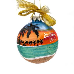 St. John Sunset Beach Ornament