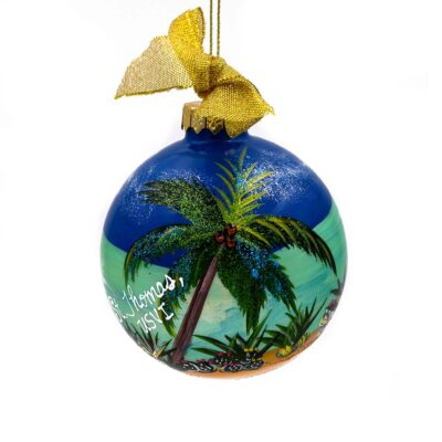 St. Thomas Palm Over Water Ornament