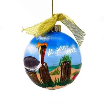 St. John Pelican Christmas Ornament