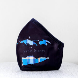 Virgin Islands Blue Madras Face Mask