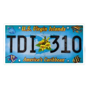 St. Thomas Authentic License Plate