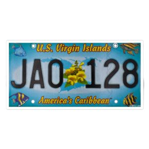 St. John Authentic License Plate