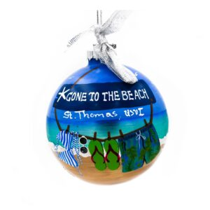 St. Thomas Gone to the Beach Ornament