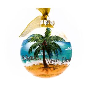 St. Thomas Coconut Palm Ornament