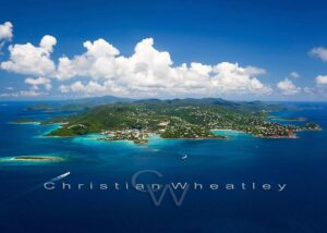 St. John Coastline Photo Print