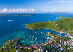 Cruz Bay Aerial Photo Print