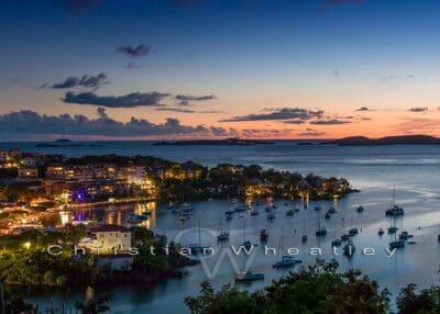 Cruz Bay at Night Photo Print