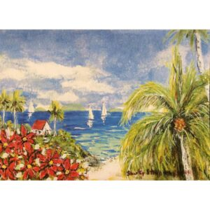 Coastal Scene Christmas Card